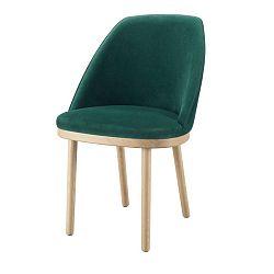 Tmavě zelená židle s nohami z dubového dřeva Wewood - Portuguese Joinery Sartor