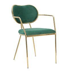Tmavě zelená židle železnou konstrukcí Mauro Ferretti Sedia Glam