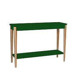 Tmavě zelený stolek Ragaba Ashme, šířka105cm