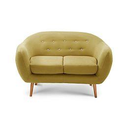 Tmavě žlutá dvoumístná sedačka Scandi by Stella Cadente Maison Constellation