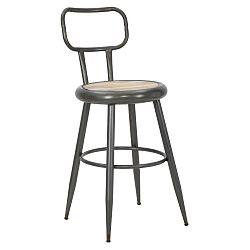 Tmavošedá barová židle Mauro Ferretti Bar Berlin Darwin