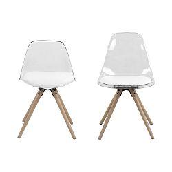 Transparentní jídelní židle s bílým sedákem Actona Henning