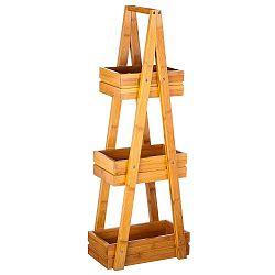 Třípatrový bambusový stojan Unimasa Bamboo