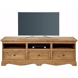 TV komoda z masivního borovicového dřeva Støraa Monty, šířka163cm