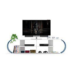 TV stolek s modrými detaily Sam