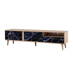 TV stůl Stella Blue Marble, šířka 46 cm
