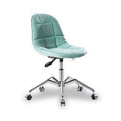 Tyrkysová židle na kolečkách Modern Chair Grey