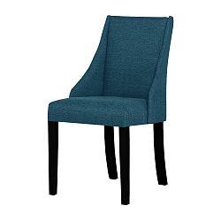 Tyrkysová židle s černými nohami Ted Lapidus Maison Absolu