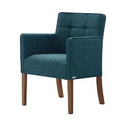 Tyrkysová židle s tmavě hnědými nohami Ted Lapidus Maison Freesia
