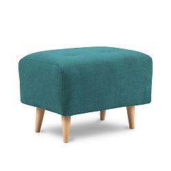 Tyrkysově zelená podnožka Kooko Home Twist