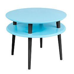 Tyrkysový konferenční stolek s černými nohami Ragaba UFO, Ø57cm