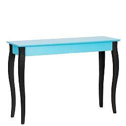 Tyrkysový konzolový stolek s černými nohami Ragaba Lilo, šířka 105cm