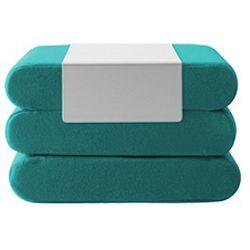 Tyrkysový rozkládací puf Softline Bingo Eco Cotton Turquoise