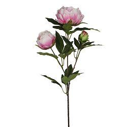 Umělá květina Ego Dekor Růžová pivoňka se třemi květy