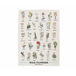 Utěrka z bavlny Gift Republic Wild Flowers, 50 x 70 cm