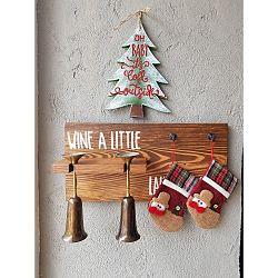 Vánoční nástěnná dekorace Christmas Tree,30x2x23cm