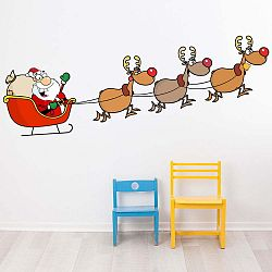 Vánoční samolepka Fanastick Joyeux Et Ses Rennes