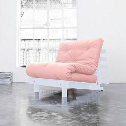 Variabilní křeslo Karup Roots White/Pink Peonie