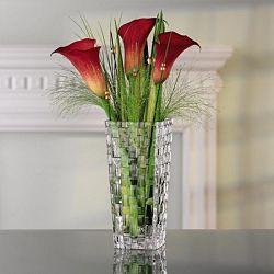 Váza z křišťálového skla Nachtmann Bossa Nova, výška16 cm