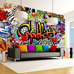 Velkoformátová tapeta Artgeist Colourful Graffiti, 350x245cm