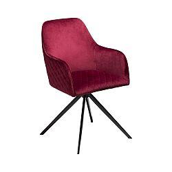 Vínová jídelní židle s područkami DAN–FORM Denmark Twine Velvet
