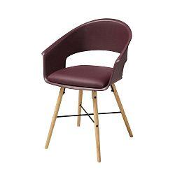 Vínově červená jídelní židle s podnožím z bukového dřeva Actona Ivar
