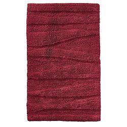Vínově červená koupelnová předložka Zone Flow, 50x80cm