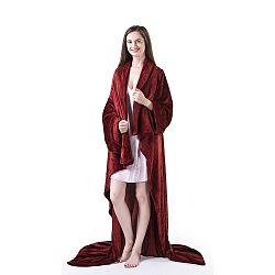 Vínově červená televizní deka z mikrovlákna DecoKing Lazy, 200x170cm