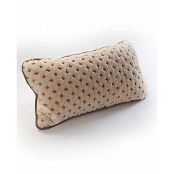 Vlněný hnědý polštář Royal Dream Camel Dots, 50x60 cm