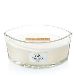 Vonná svíčka WoodWick Bílé čisté prádlo, 50 hodin hoření