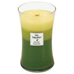 Vonná svíčka WoodWick Trilogy Oslava jablek, 130hodin hoření