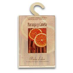 Vonný sáček s vůní pomeranče a skořice Boles d'olor