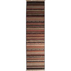 Vzorovaný běhoun Zuiver Nepal Dark,67x245cm