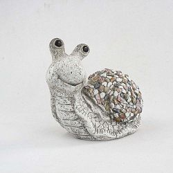 Zahradní dekorace Dakls Garden Deco Snail With Stones, výška 23 cm