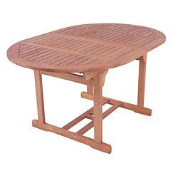 Zahradní rozkládací stůl z eukalyptového dřeva ADDU Boston