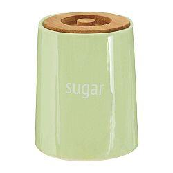 Zelená dóza na cukr s bambusovým víkem Premier Housewares Fletcher
