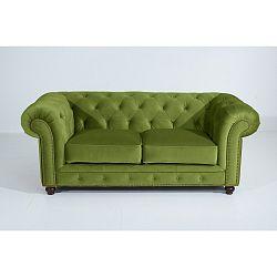 Zelená dvoumístná pohovka Max Winzer Orleans Velvet