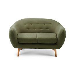 Zelená dvoumístná sedačka Scandi by Stella Cadente Maison Constellation