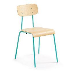 Zelená jídelní židle s přírodním sedákem La Forma Klee