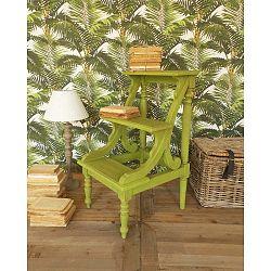 Zelená stolička na knihy Orchidea Milano Antique, výška 81 cm
