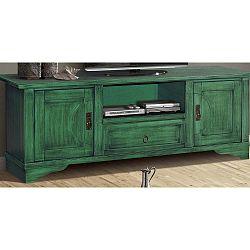 Zelená TV komoda z masivního topolového dřeva Evergreen House Design