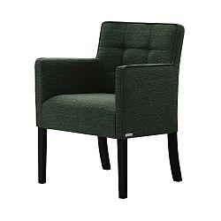 Zelená židle s černými nohami Ted Lapidus Maison Freesia