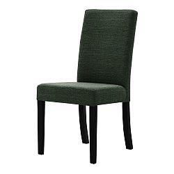 Zelená židle s černými nohami Ted Lapidus Maison Tonka