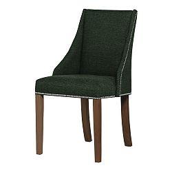 Zelená židle s tmavě hnědými nohami Ted Lapidus Maison Patchouli