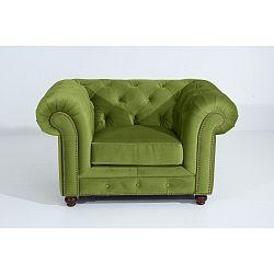 Zelené křeslo Max Winzer Orleans Velvet