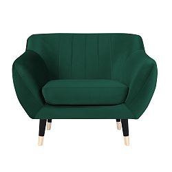 Zelené křeslo s černými nohami Paolo Bellutti Paolo