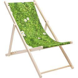 Zeleno-hnědé lehátko Kare Design Meadow