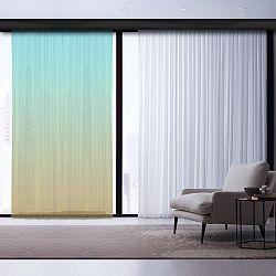 Zeleno-tyrkysový závěs Curtain Latta, 140 x 260 cm