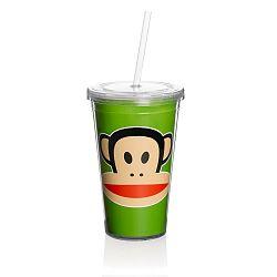 Zelený hrnek s brčkem Paul Frank