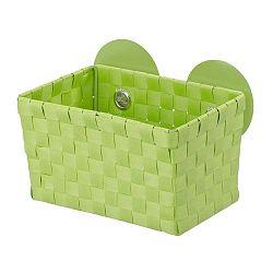 Zelený košík s přísavkou Wenko Fermo